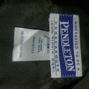 Pendleton Jackets & Coats - Pendleton Green Virgin Wool Bomber Zip Jacket - 14